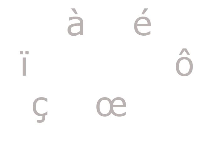 علامات النطق والرموز Les accents فى اللغة الفرنسية